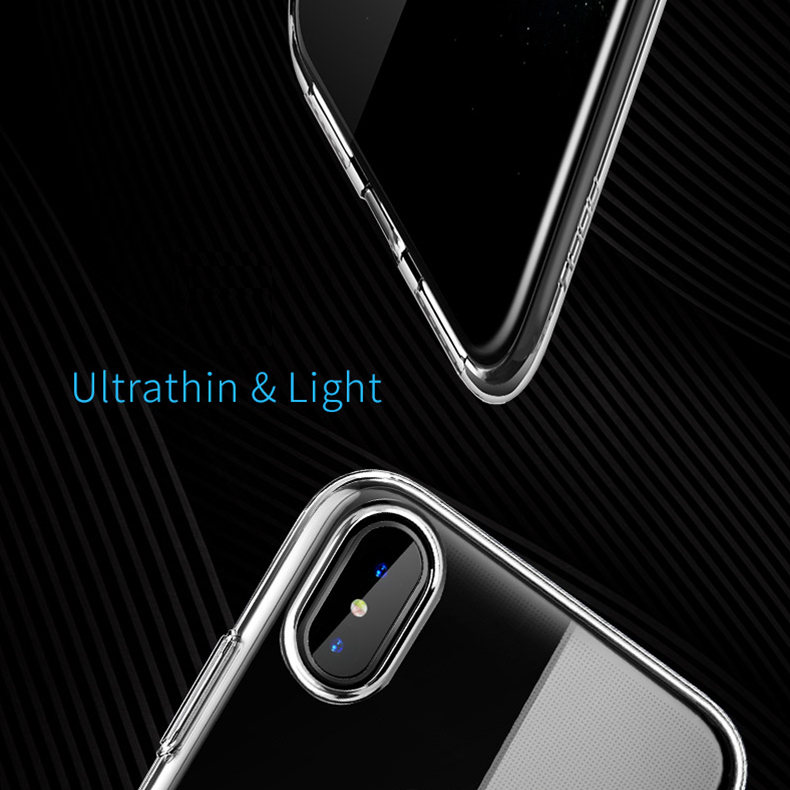 Чехол для iPhone X Rock Ultrathin TPU Slim Jacket Series прозрачный
