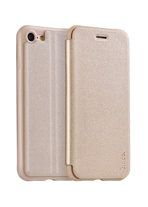 Чехол для iPhone 7 Hoco Juice series Nappa leather case золото