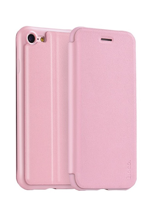 Чехол для iPhone 8 Hoco Juice series Nappa leather case розовый