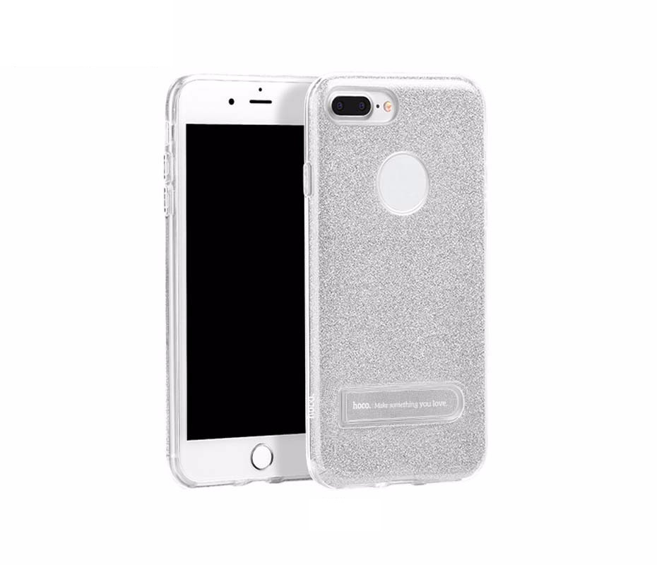 Чехол для iPhone 7 Hoco Simple series dazzling TPU серебро