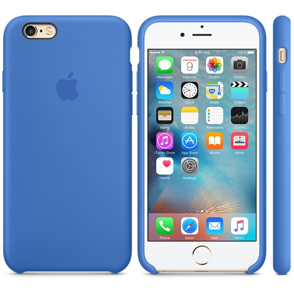 Чехол-накладка для iPhone 7 Silicone Case синий
