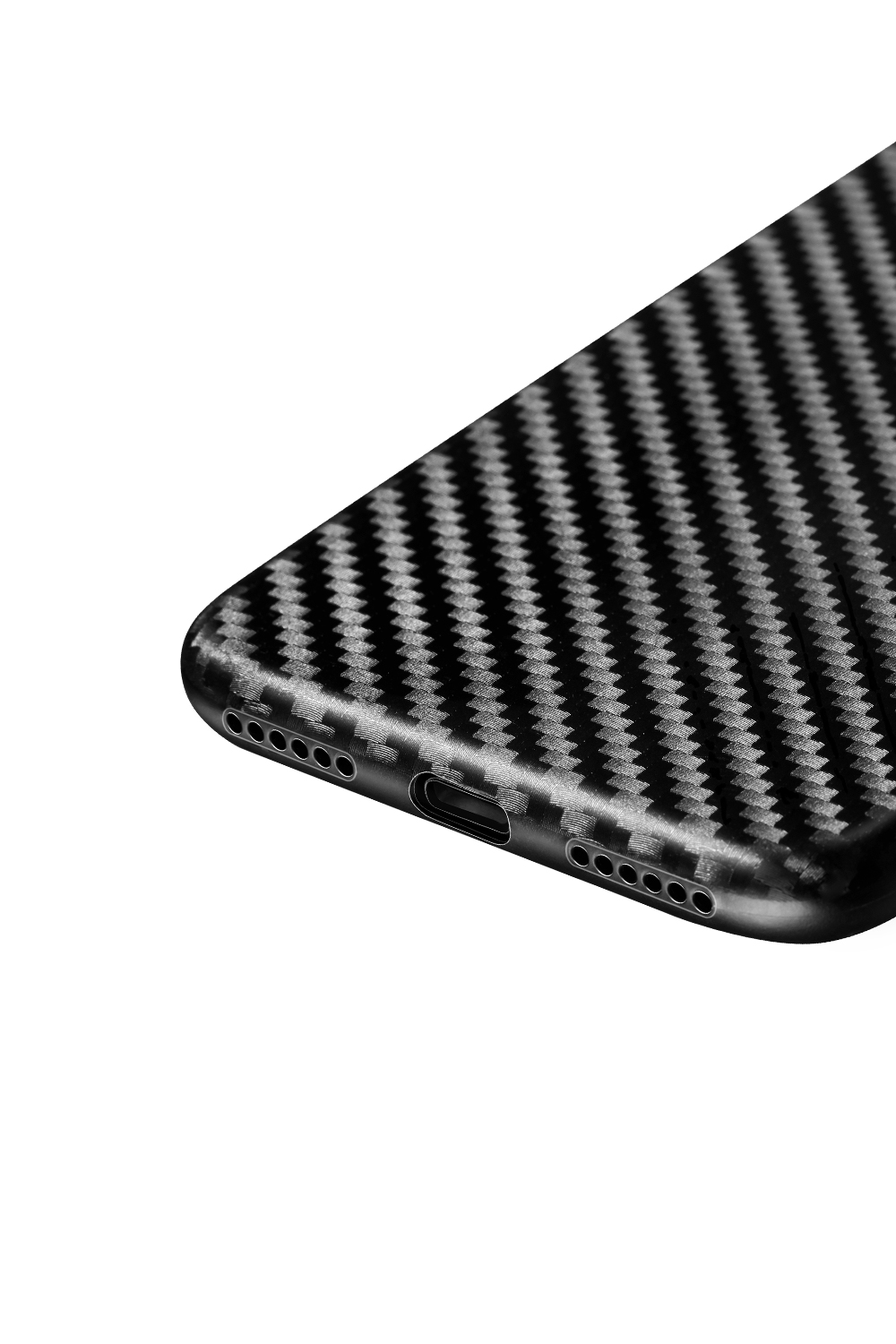 Чехол для iPhone 8Plus Hoco Ultra thin series carbon fiber PP черный
