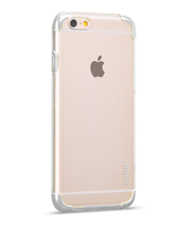 Чехол-накладка iPhone 6 Hoco Steel series Double-Color PC TPU Белый