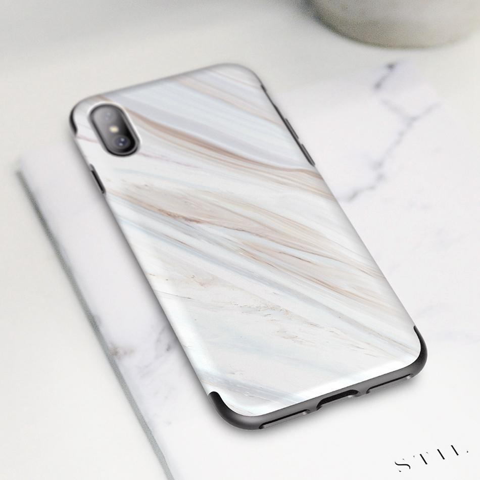 Чехол для iPhone X Rock Origin Series White Marble