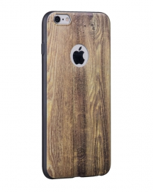 Силиконовый Чехол для iPhone 6/6S Hoco Element series wood Yellow