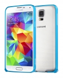 Бампер для Samsung Galaxy S5 USAMS Wing Series металл Голубой