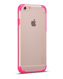 Чехол-накладка iPhone 6 Hoco Steel series Double-Color PC TPU Розовый