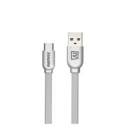 Кабель USB-C/Lightning Remax 1m серебро