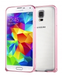 Бампер для Samsung Galaxy S5 USAMS Wing Series металл Розовый