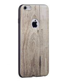 Силиконовый Чехол для iPhone 6/6S Hoco Element series wood Champagne