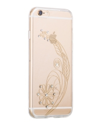Силиконовый Чехол для iPhone 6/6S Super Star Series Shining Dimond Feather