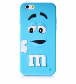 Чехол для iPhone 6/6S M&M's голубой